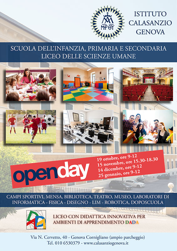Calasanzio Genova - Open Days 2019